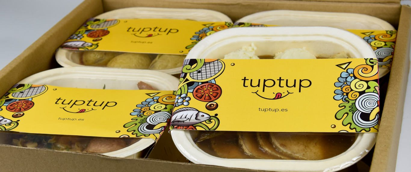 Cajas con Tápers de TupTup
