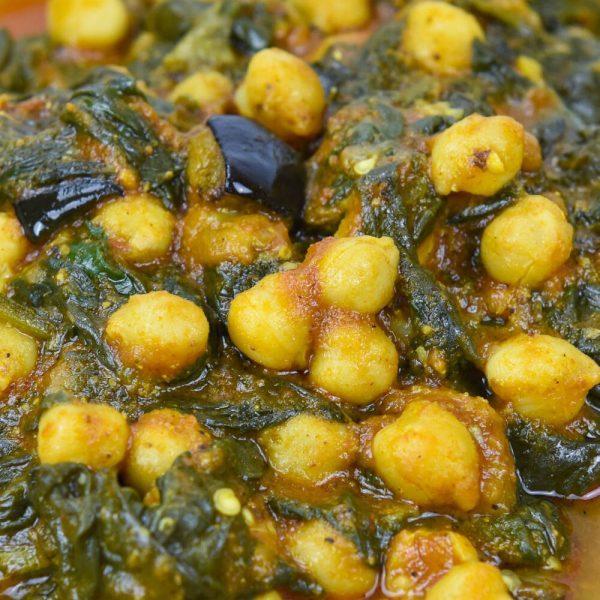 Estofado de espinacas, berenjenas y garbanzos-tuptup