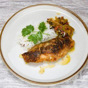 Salmon con arroz basmati y verduras-tuptup