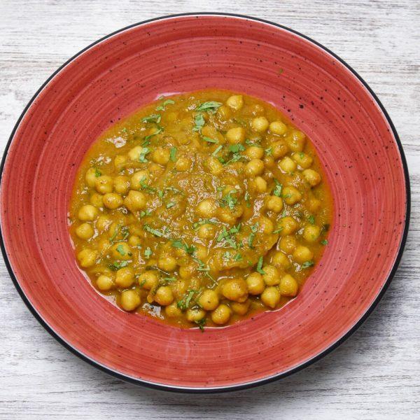 Curry de garbanzos plato vegano y fácil