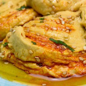 Hummus Bi Tahini plato vegano rápido en tu cas