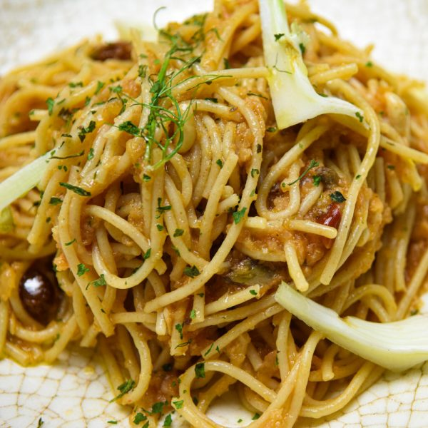 Spaghetti con sardinas
