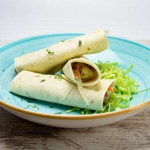 Tacos de emperador y gambas tuptup comida a domicilio